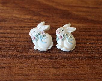 Bunny Pierced Earrings, Pierced Earrings, Rabbit Earrings, Vintage Earrings, Bunny Earrings, Spring Bunny Earrings, Vintage Earrings