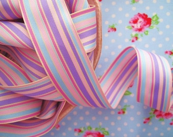 Striped Grosgrain Ribbon - Easter Pastel - 1 1/2 inch - 1 Yard
