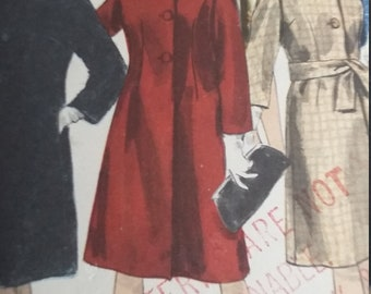 RARE Vintage Vogue 4289 Sewing Pattern Special Design Coats and Scarf Size 14