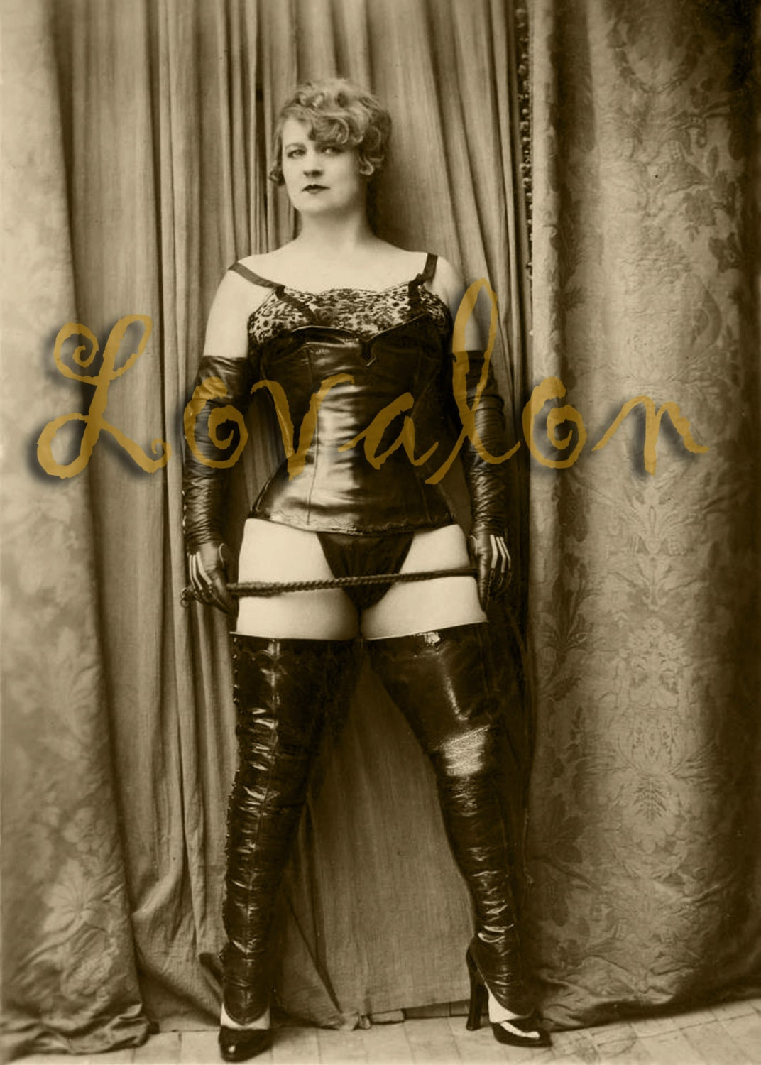 mature leather obsession instant digital download 1930's