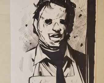 Leatherface, Texas Chainsaw Massacre original sketch