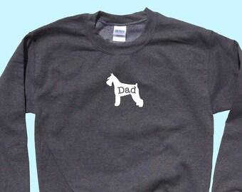 "Schnauzer ""DAD"", Crewneck Sweatshirt"