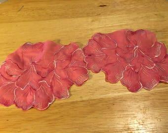 Pink Flower Appliques - 2