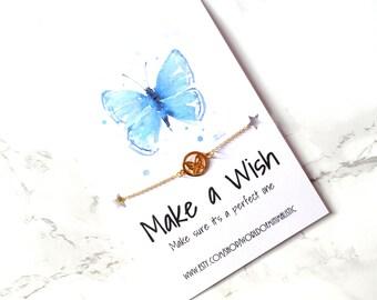 Butterfly dainty bracelet, minimalist bracelet, simple butterfly bracelet, delicate wish bracelet, thin bracelet, BFF bracelet