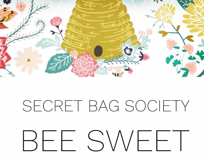 Large Project Bag with Progress Keeper/Stitch Marker Set, Surprise Bag, Secret Bag Society:  February - Bee Sweet (1 month subscription)