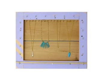 Jewelry Organizer // Necklace Display // Jewelry Storage & Organization // Bracelet Holder // Reclaimed Wood Rack // Eco-Friendly Furniture