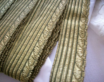1 yard of 1 inch antique metal trim, more avail.