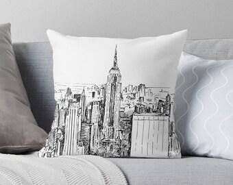 New York Throw Pillow | New York Pillow Cover | New York Cushion | New York Décor | New York Gift | New York Pillow Case
