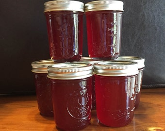 Pickly Pear Cactus Jelly (half amount of sugar of regular  recipe) (8oz.)