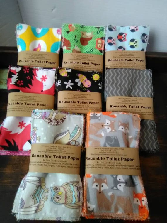 Reusable toilet paper 24 pieces of 4x7 inches family cloth