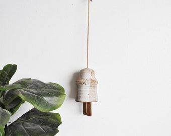 Vintage Pottery Wind Chime // Bell // Southwest Boho Home Decor