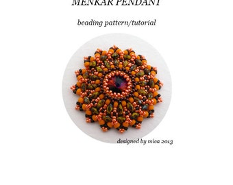 Menkar Pendant - Beading Pattern/Tutorial - PDF file for personal use only