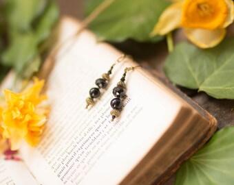 Onyx black spinelle Earrings