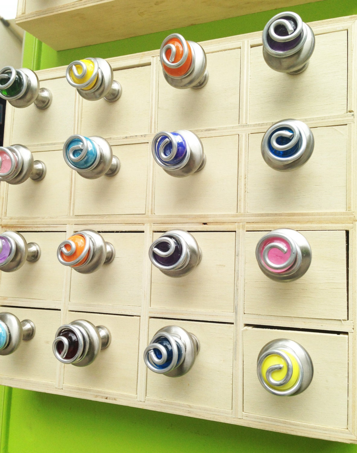 Colorful Glass Cabinet Knobs And Pulls Kitchen