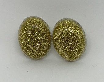 Gold Glitter Studs