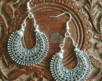 Bali Hoop Earrings  • Tribal • Ethnic • Bohemian • Gypsy • Hypoallergenic