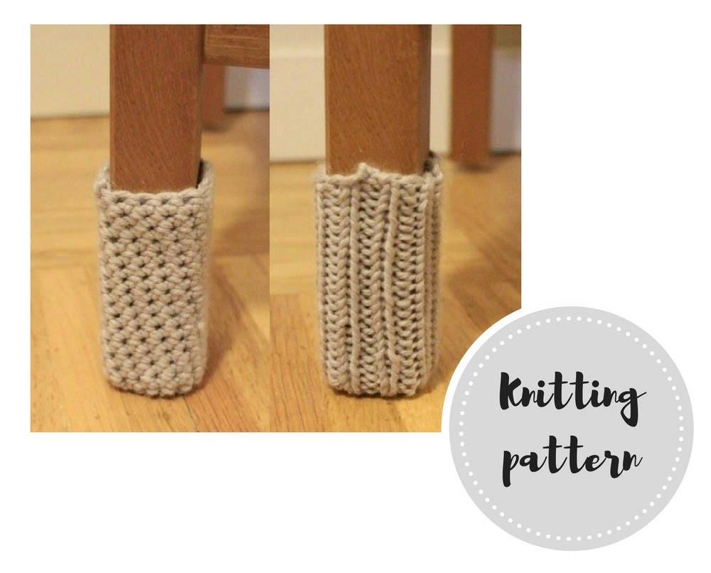 Chair socks PDF pattern - knit and crochet versions