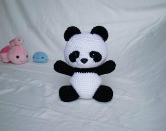 Amigurumi Panda Bear Crochet Pattern : Panda bear crochet pattern panda amigurumi toy bear from