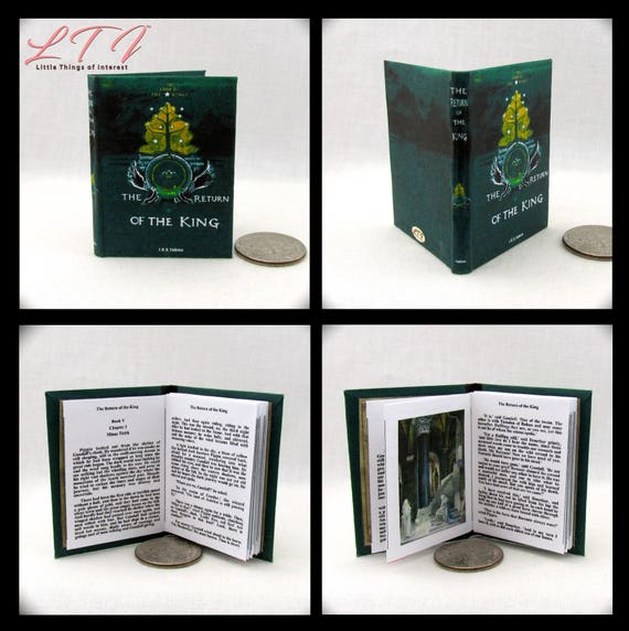 1:6 Scale Miniature Book RETURN Of The KING Illustrated Readable Book J.R.R Tolkien Play Scale BJD Barbie Book 1/6 scale Lord of the Rings