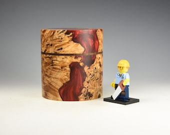 Hybrid Burr horse chestnut & walnut wooden box, wood turning, gifts for dad, fromthetree