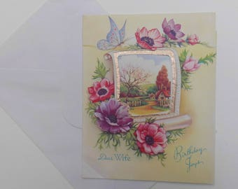 vintage 1950's wedding anniversary card