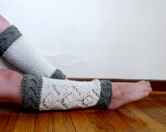 Legwarmers Knitting Pattern, Cable Knit Leg Warmers Pattern, Lace Legwarmers, Knee Length Leg Warmers Pattern for Experienced Knitters