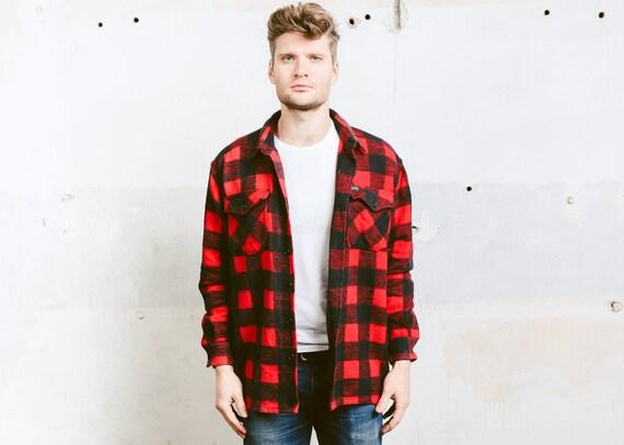 New Green Tartan Fur Lined Lumberjack Fleece Jacket Coat Gone Retro 6s7ljhed