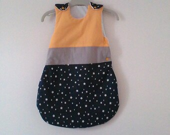 Swaddle baby size 0 / 6 month Navy blue yellow, grey, blue with stars