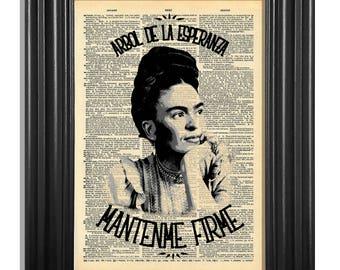 Frida Kahlo Quote Vintage Dictionary Art Print - Frida Kahlo, Wall Art, Home Decor, Dorm Decor, Women Icons, Strong Women, Frida Kahlo quote