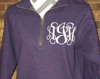 Monogrammed Quarter Zip Pullover