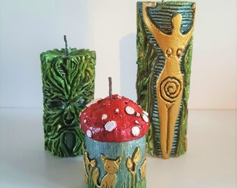 Pagan Woodland Candle Set