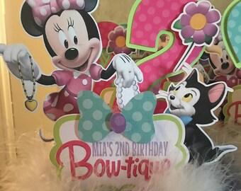 Minnie's Bowtique centerpieces