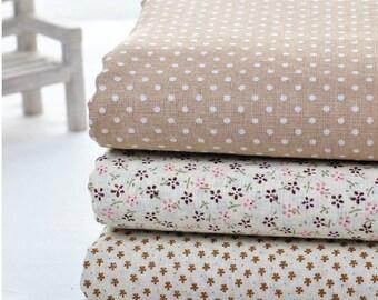 "Cotton Fabric Cloth -DIY Cloth Art Manual Cloth - Fabric Set 3'Pieces 29 x19Inches "" Each"