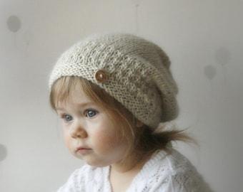 Knitting Pattern Rabbit Hat : Knitting pattern bunny hat and cowl set slouch rabbit gigi