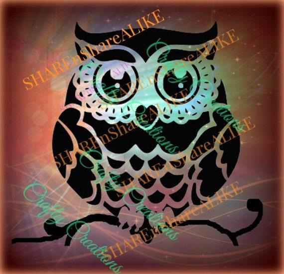Owl Svg Family Nursery Cricut Vinyl Silhouette Heart Animal
