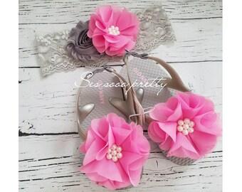 Flower baby girl sandals, Flip flops