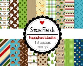 Digital Scrapbook SmoreFriends-INSTANT DOWNLOAD