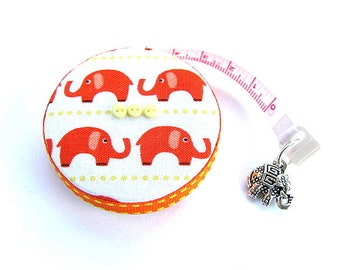 Measuring Tape Orange Elephants Retractable Tape Measure