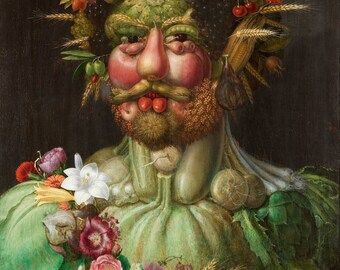 Vertumnus by Guiseppe Arcimboldo, in various sizes, Giclee Print on Canvas