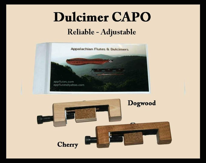 Hand-Made Mountain Dulcimer CAPO - Cherry or Dogwood