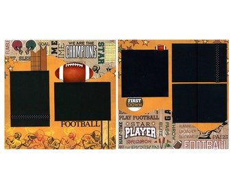 Football Scrapbook Page Set is Premade and Photo Ready