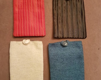 Handmade mens kindle fire cases. Chenille kindle cover. Blue red black cream kindle cases