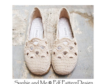 Venezia Slippers Basic Crochet Pattern - Espadrilles - Instant Download