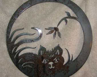 Kitty in The Grass  - Metal art
