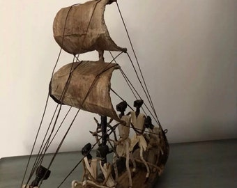 African hand carved decorative sail