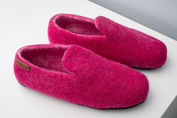 Felt sole Slippers Wool handmade 100 with Feltiness leather rqrcTWPF