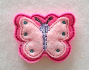 Flutter Butterfly Feltie Embroidery Design