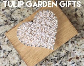 Heart String Art Mini, Stringart Heart, Heartstrings String Art, Heart String Art, Mini Heart String Art, Heart Stingart