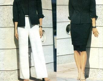 Vogue 2390 ANNE KLEIN Jacket, Skirt Pants Size 6 - 8 - 10 ©2000
