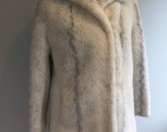 SOLD 1990s White Faux Fur, Fun Fur, Fancy Dress, Opera Outfit, Wedding